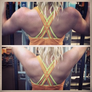 Back Muscles on a Cut