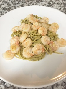 Shrimp Scampi, Pesto Pasta