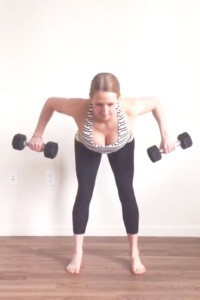 Dumbbell Wide Row